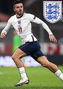 Jack Grealish Poster England Poster Laminated A4 FIFA 22