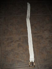 Nice White Leather Woven Belt Medium