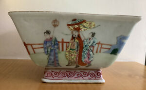 Antique Chinese Square Famille Rose Bowl