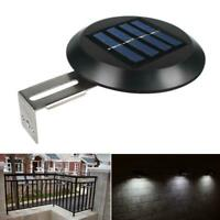 2pcs 9LED Solar Wall Way Light Gutter Lamp Garden Yard Fence Outdoor Waterproof