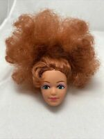 Vintage Barbie Rockers Dancing Action Diva Doll Red Hair Green Eyes Head Only