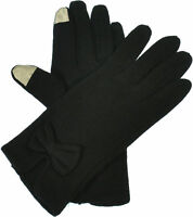 Aprileo Women's I-Touch Gloves Screen Bow Tie Elegant Warmth