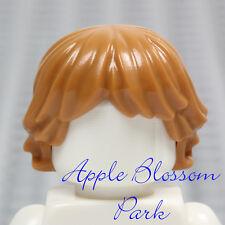 NEW Lego Minifig Short LIGHT BROWN HAIR Med Flesh Long Boy Girl Female Head Gear
