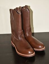 MEN'S RED WING 1178 BROWN LEATHER PECOS WORK BOOTS SZ 8.5 E3 MADE IN USA  $260