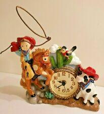 Figi Childs Kids Cowboy Rodeo Roping Southwest Table Desk Bedroom Clock