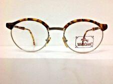 West Coast  occhiale da vista vintage 1990 metallo Oro plastica marrone rotondo