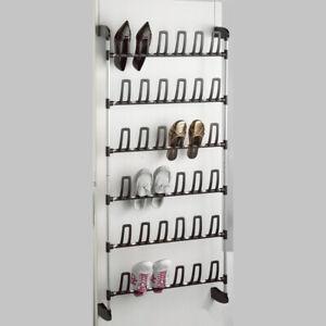 Compactor Angela 18 Pair Over Door Shoe Rack in Grey/Black RAN3397