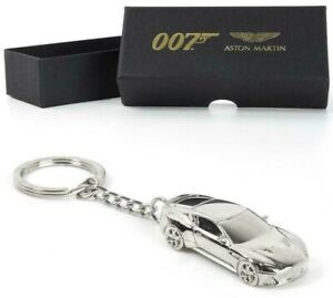 OFFICIAL NO TIME TO DIE ASTON MARTIN DBS SILVER KEYRING JAMES BOND 007 NEW GIFT