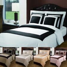 LUXURY Hotel 5 Piece Duvet Cover with Pillow Shams 100% Cotton Set SUPER ELEGANT