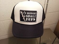 i support single moms mesh snapback baseball cap