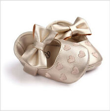 New Cute Toddler Baby Boy Girl Soft PU Leather Bownot Ballet Shoes 0-18 Months