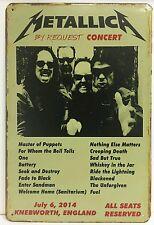 Metallica Knebworth Angleterre Rétro Vintage Métal Signe Plaque Home PUB Studio