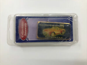 Money Clip Route 66 Kicks Main Street USA Gold Tone Corvette Convertible New Box