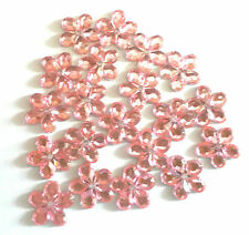 100 Pale Pink Flower Embellishments flat backed 2 Sew or Glue 4 Card Craft