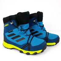 Adidas Terrex Youth Size 1.5 Blue Traxion Climaproof Snow Hiking Shoes Boots