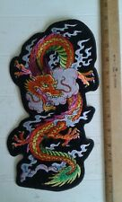 "Dragon Back Patch Motorcycle Biker Vest Jacket 12"" x 6"" Iron On Tattoo Art"