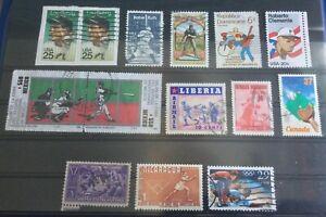 Baseball on stamps