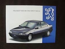 Peugeot 405 SR / SRI / SRDT / SRX 4 - Prospekt Brochure 07.1993