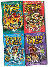 Beast Quest Series 16 , 4 Books Set Collection Kanis, Solix, Ronak, Styro
