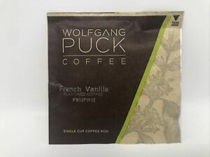 Wolfgang Puck Coffee French Vanilla Pods, 9.5 Gram Pods Pack of 48