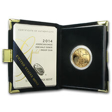 2014-W 1/2 oz Proof Gold American Eagle (w/Box & COA) - SKU #79350