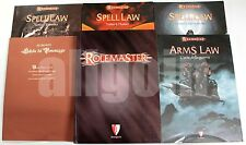 Rolemaster MANUALE BASE + ARMS LAW + 3 SPELL LAW (FLUSSO ESSENZA MENTALISMO)