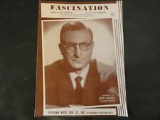 Fascination by Manning and Marchetti Sung by Dick Jacobs Sheet Music 1954