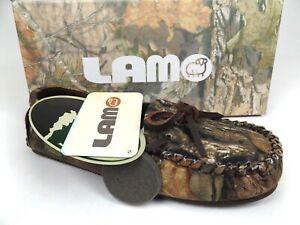 LAMO Sabrina Moc II Moccasin Slippers, Women's Size 6.5, Mossy Oak NEW,  21477