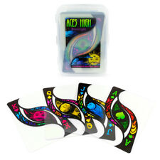Aces High Blacklight & Clear Design Premium Plastic Waterproof PVC Playing Cards