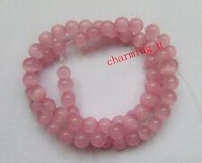 20pz  perline in vetro occhi di gatto colore rosa 6mm