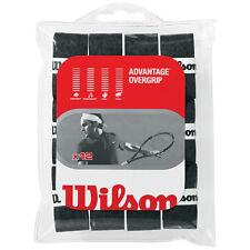 WILSON Advantage Overgrip Tennis Set di 12 Nero su grip anche per PADEL TENNIS
