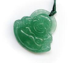 Green Jade Tibet Buddhist Happy Buddha Amulet Pendant