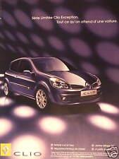 PUBLICITÉ 2007 RENAULT CLIO SELLERIE CUIR ET TISSU - ORIGINAL ADVERTISING