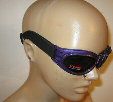 Purple Goggles Googles Motorcycle PADDED Women Ladies Burning Man ATV Quad Moped