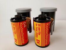 35mm Kodak Kodachrome 64 Film, 2 Rolls X36 Exp. Fast Shipping.