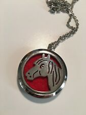 HORSE HEAD 316L Stainless Steel 30mm aromatherapy locket and necklace