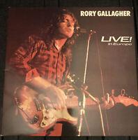 Rory Gallagher – Live In Europe Vinyl, LP, Album, Stereo, Gatefold CHR1257