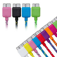 Braided Sync Date Micro USB 3.0 Cord Charger Cable For Samsung Galaxy S5 Note 3