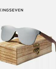 KINGSEVEN Natural Wooden Sunglasses Men Polarized Fashion Original Sun Glasses