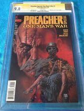 Preacher: One Man's War #1 - DC - CGC SS 9.8 NM/MT - Signed by Garth Ennis