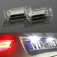2x18 LED License Number Plate Light Fit for VW Touran Golf Passat Jetta Caddy T5