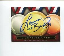 Laura Berg US Olympic Gold Sliver Softball Fresno State Signed Autograph Card