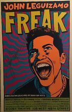 John Leguizamo Signed FREAK Broadway Poster Windowcard
