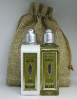 L'Occitane Women's Verveine Shower gel & Lotion travel gift set with gift bag