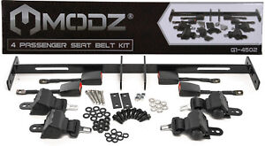 MODZ Golf Cart Retractable Seat Belt Strap Kit For 4 Seat Cart - Universal