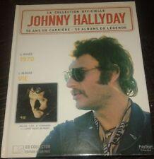 JOHNNY HALLYDAY LIVRE + CD VIE 1970 DE LA COLLECTION OFFICIELLE