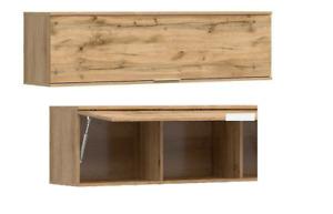 Modern Wall Cabinet Unit Storage Bedroom Living Room Oak effect finish 135 Zele