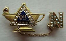 USA FRATERNITY PIN PHI BETA. MADE IN GOLD. NAMED. 1291