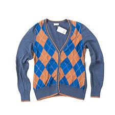 Damen-Pullover & Strickware aus Baumwolle mit V-Ausschnitt und Karo, Rauten
