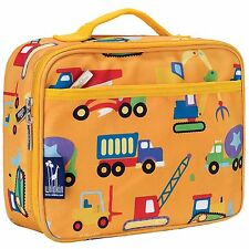 Construction Kids Lunch Box ,  Wildkin Kids Trucks Lunch Bags, Boys lunch bag